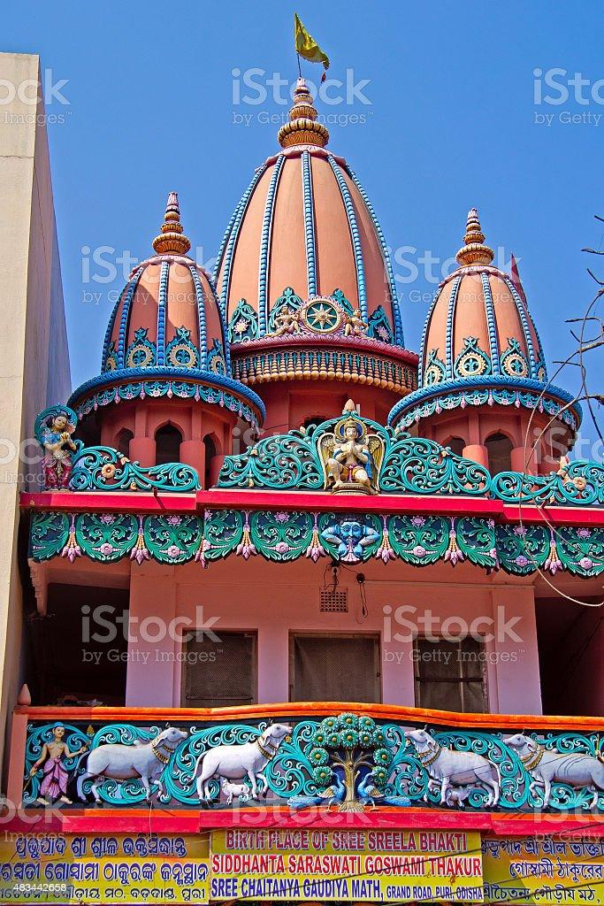 Chaitanya Gaudiya Math temple in Puri stock photo