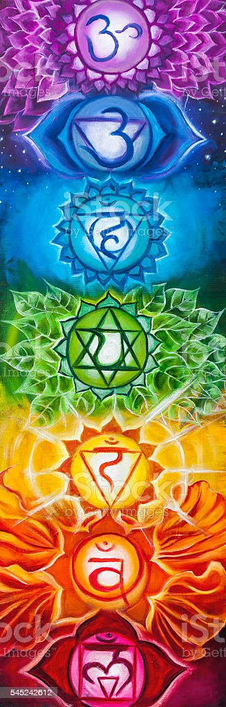 Chakra Art Painting stock photo