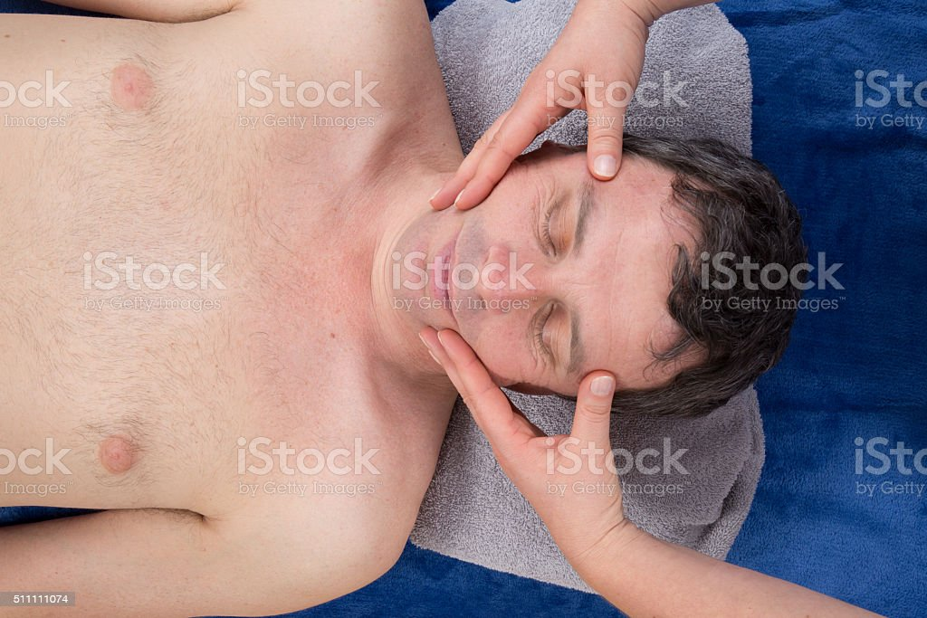 chakras head massage ancient Maya therapy central America shiatsu stock photo