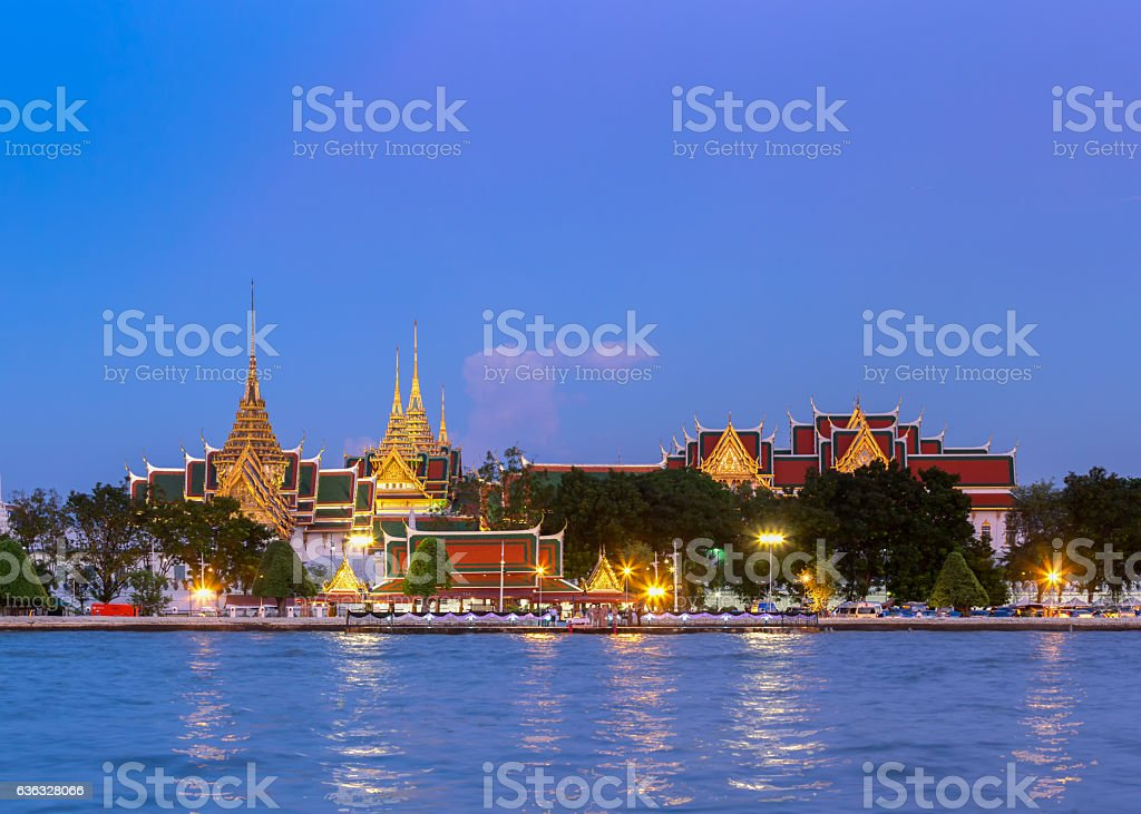 Chakri Maha Prasat Throne Hall, Bangkok, Thailand. stock photo