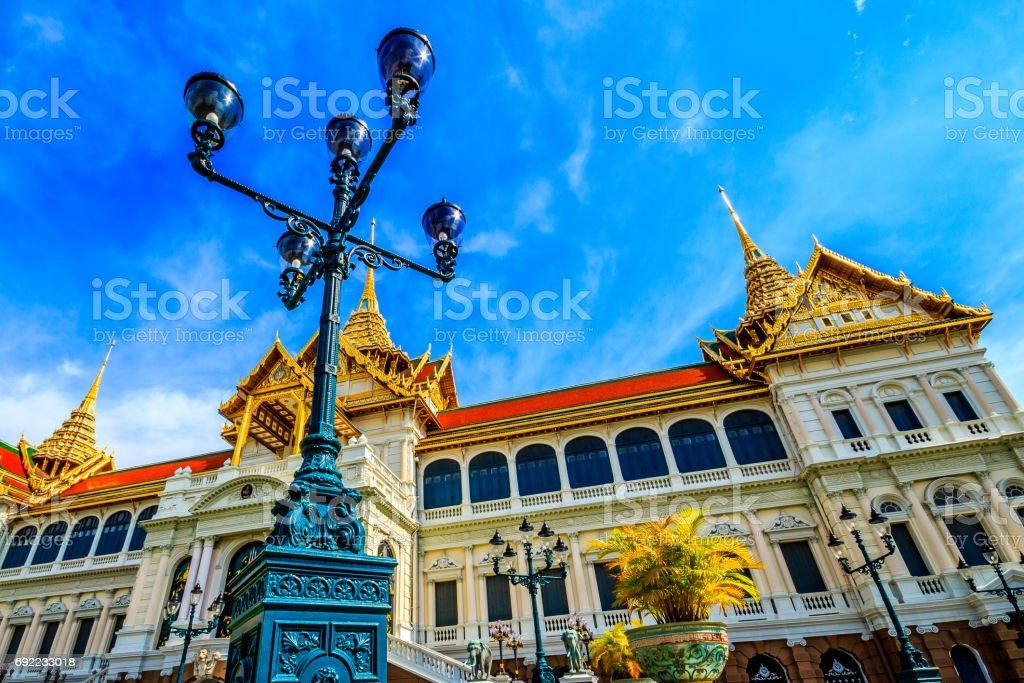 Chakri Palace in Thailand stock photo