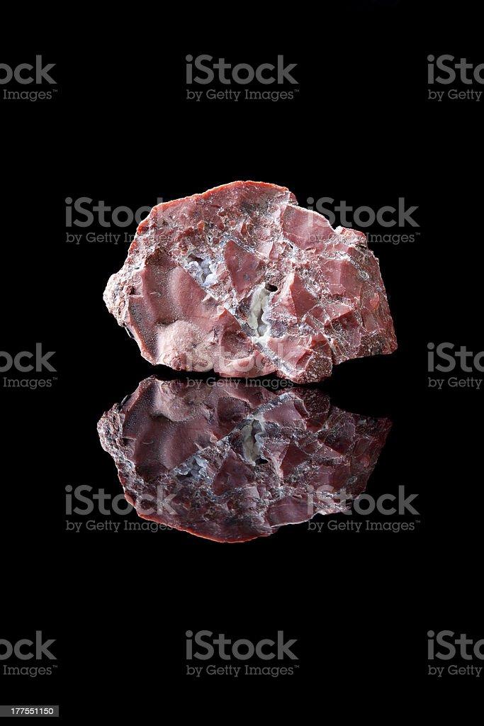 Chalcedone or jasper stone stock photo