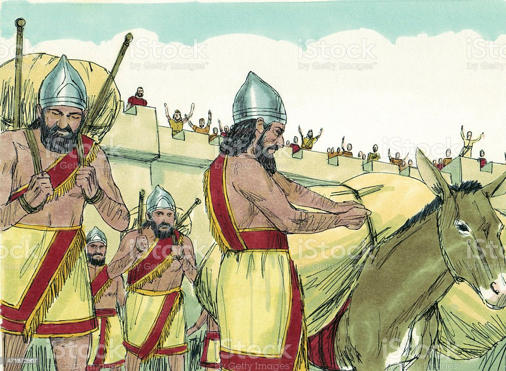 Chaldeans in Jerusalem royalty-free stock photo
