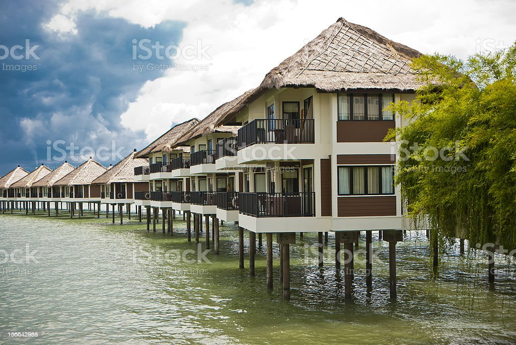 Chalet above sea royalty-free stock photo
