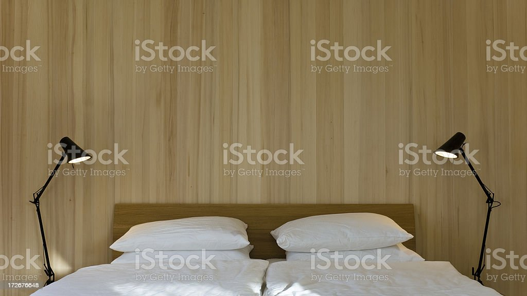 Chalet Bedroom royalty-free stock photo