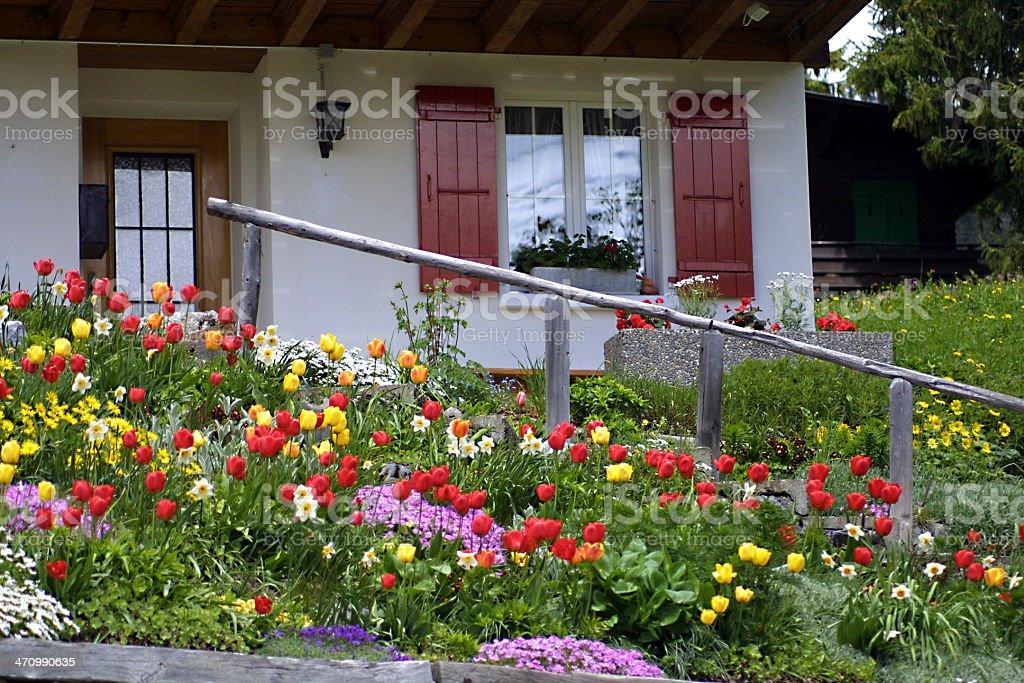 Chalet Garden stock photo