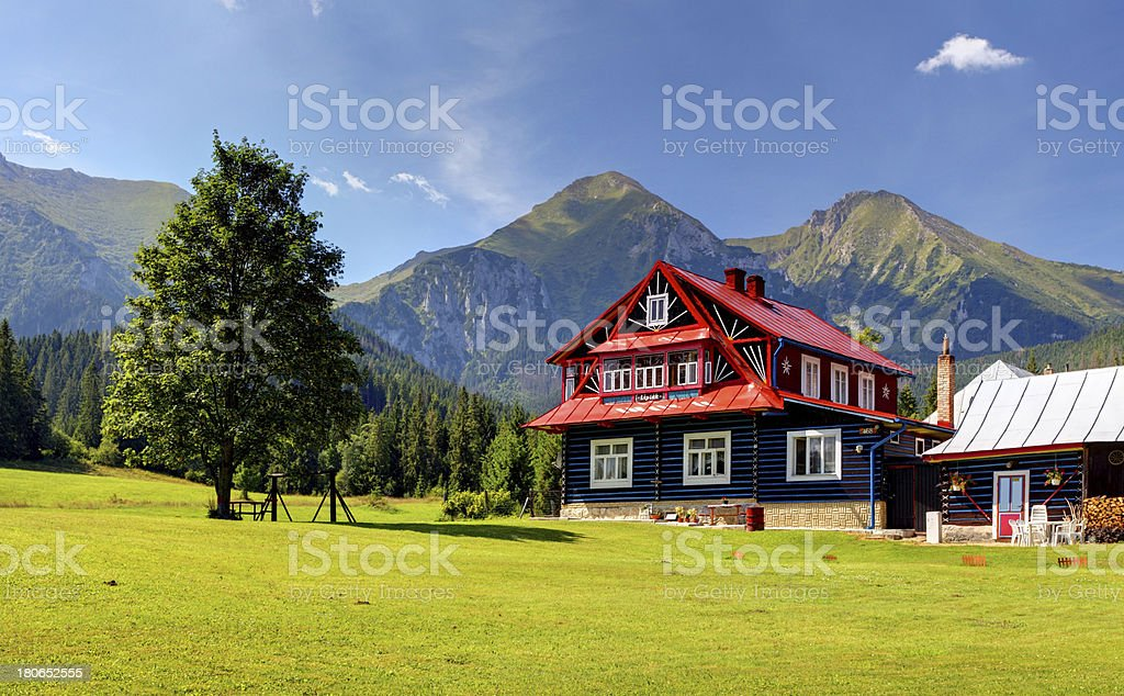Chalet in Mountain royalty-free stock photo