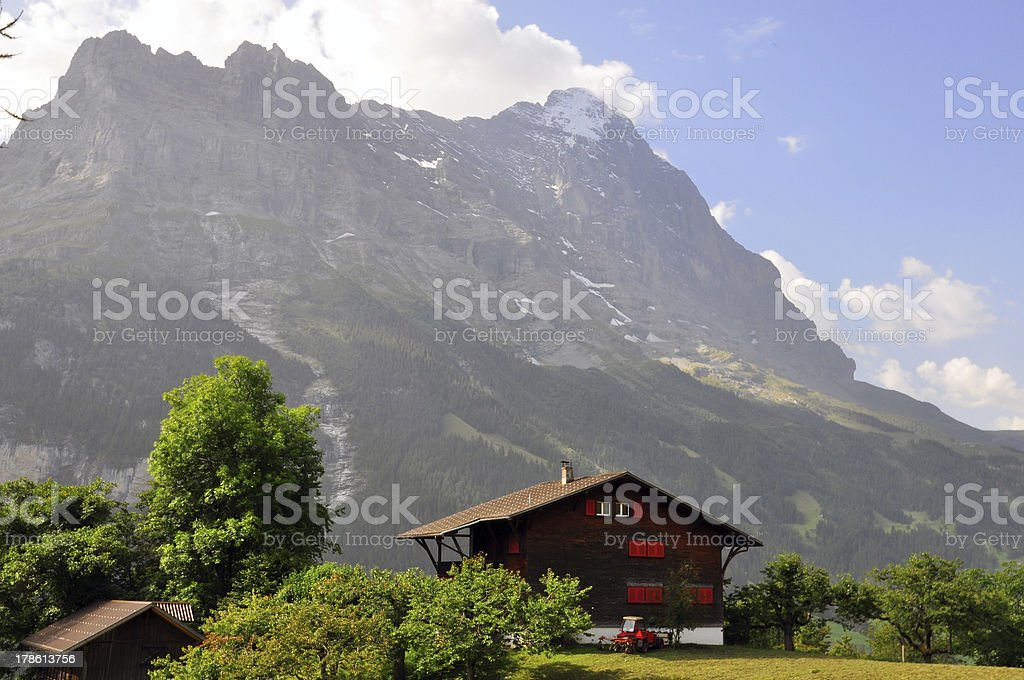 chalet in swiss Alps royalty-free stock photo