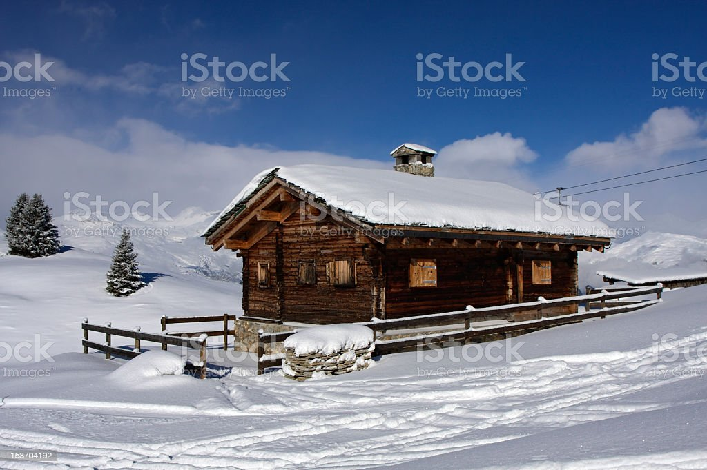 Chalet on the Slopes royalty-free stock photo
