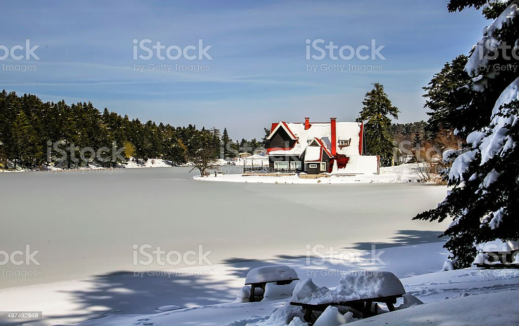 chalet royalty-free stock photo