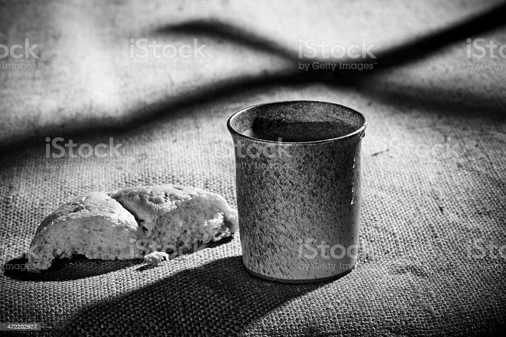 Chalice And Bread stock photo