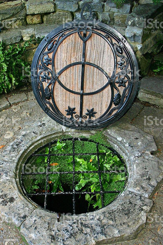 Chalice Well Glastonbury stock photo
