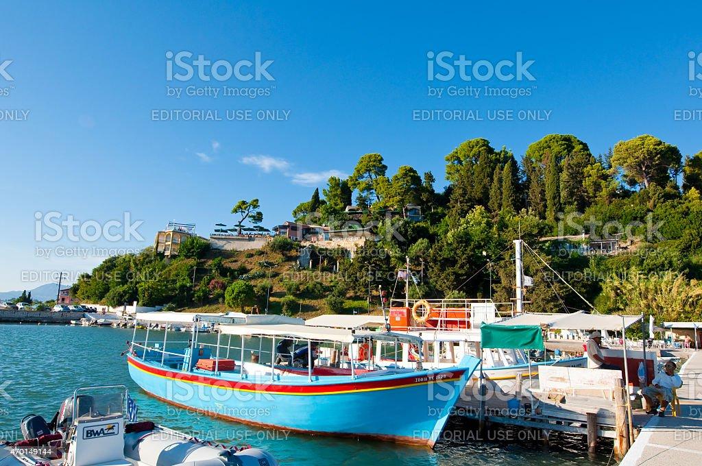 Chalikiopoulou Lagoon on Corfu, Greece. stock photo