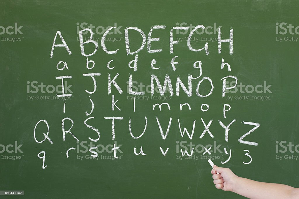 Chalk Alphabet stock photo