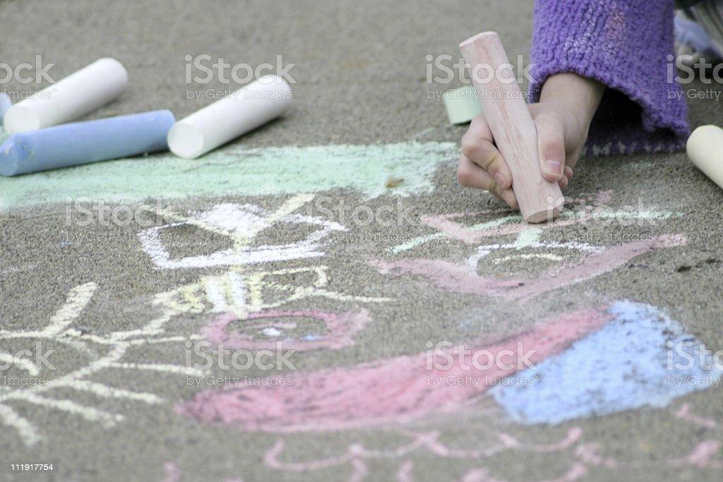 Chalk Art on the Sidewalk royalty-free stock photo