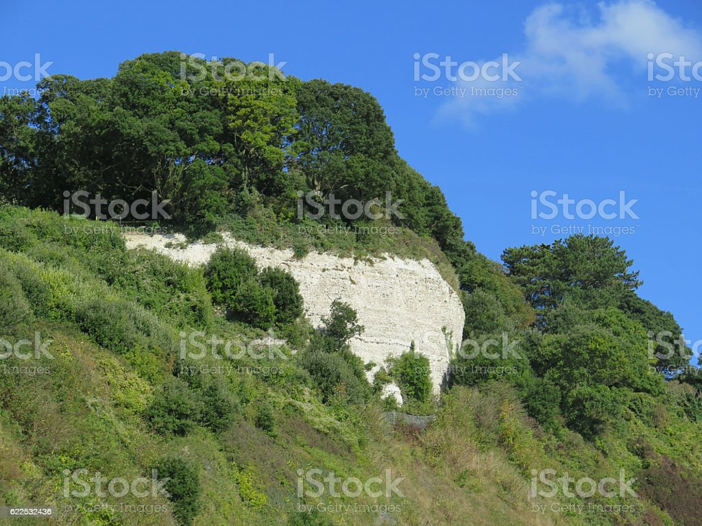 Chalk cliff face stock photo