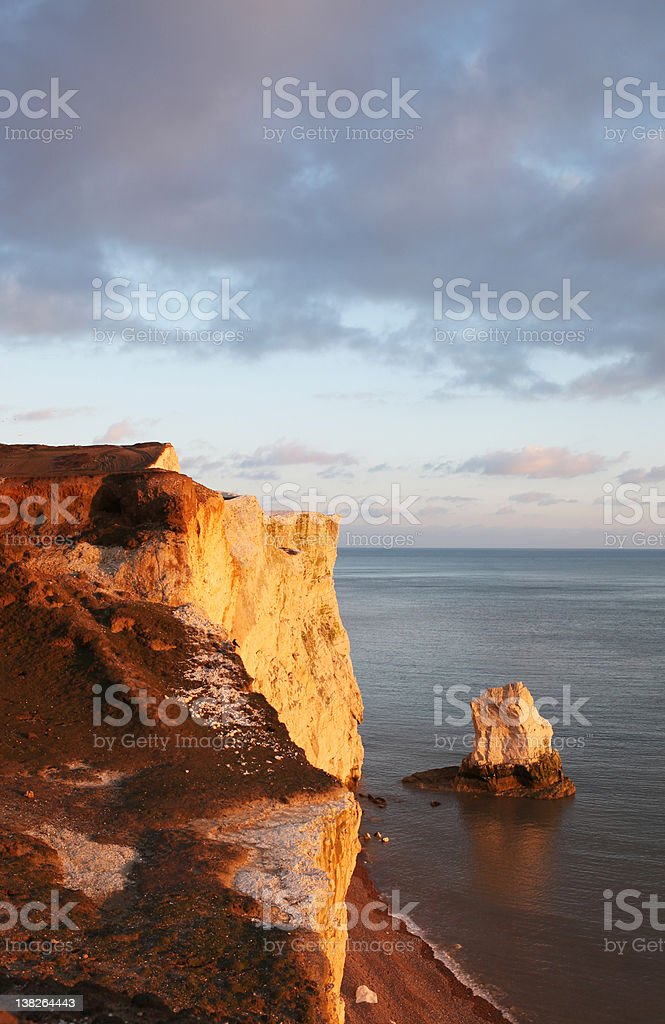 chalk cliff hill seaside seven sisters england royalty-free stock photo