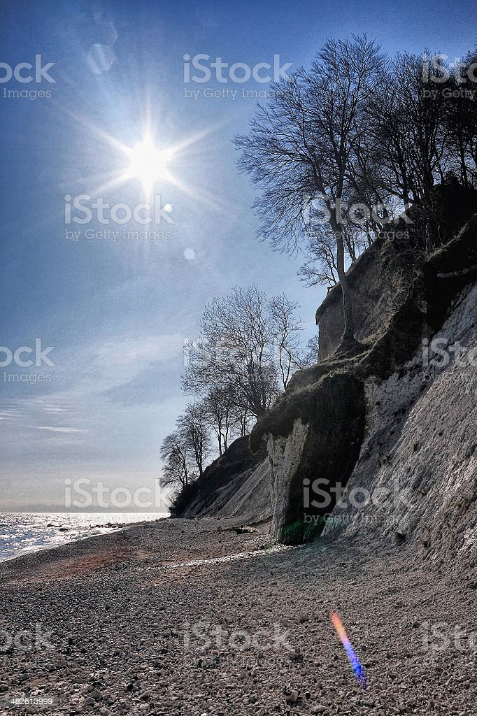 Chalk Cliff stock photo