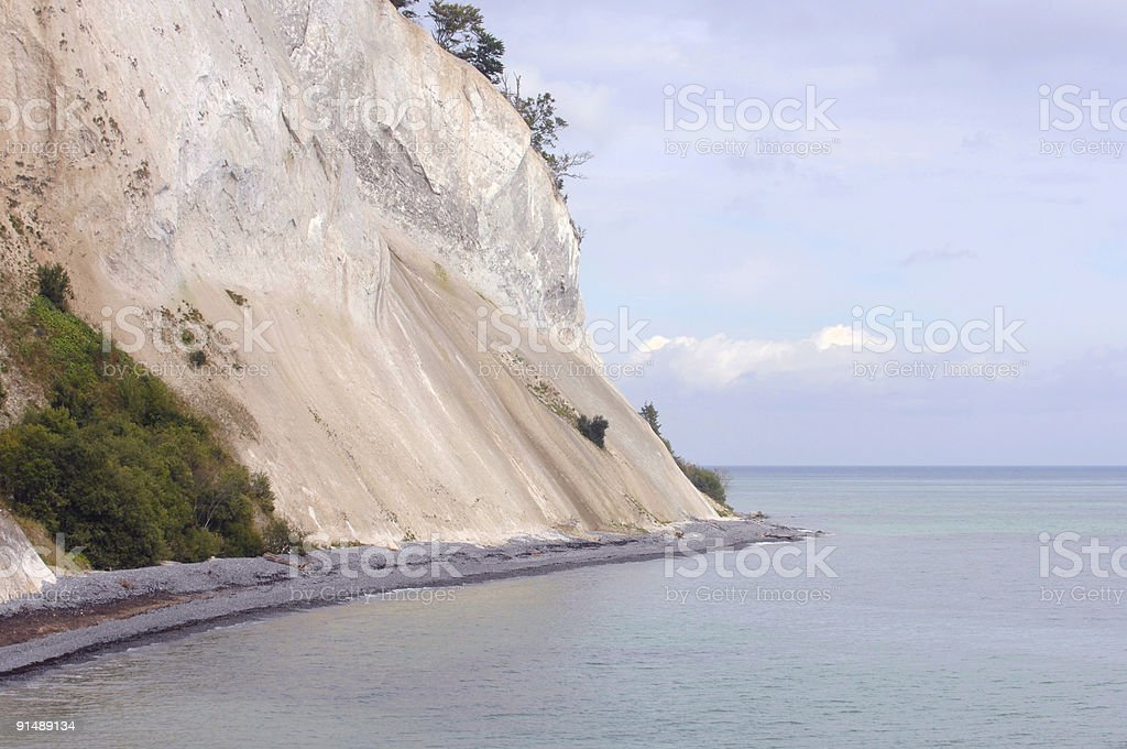 Chalk cliff stock photo