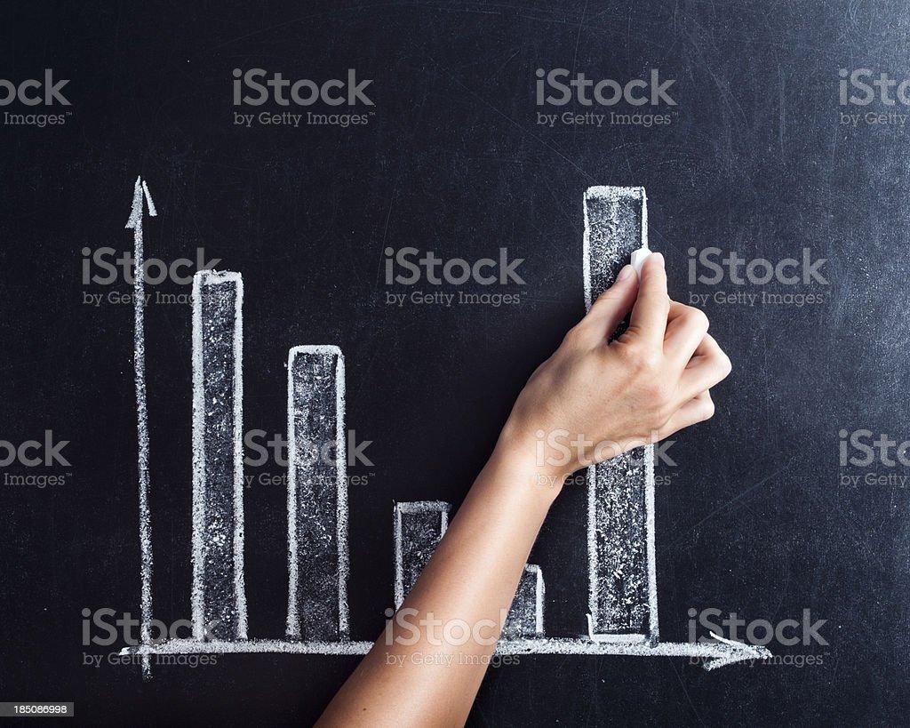 Chalk diagram royalty-free stock photo