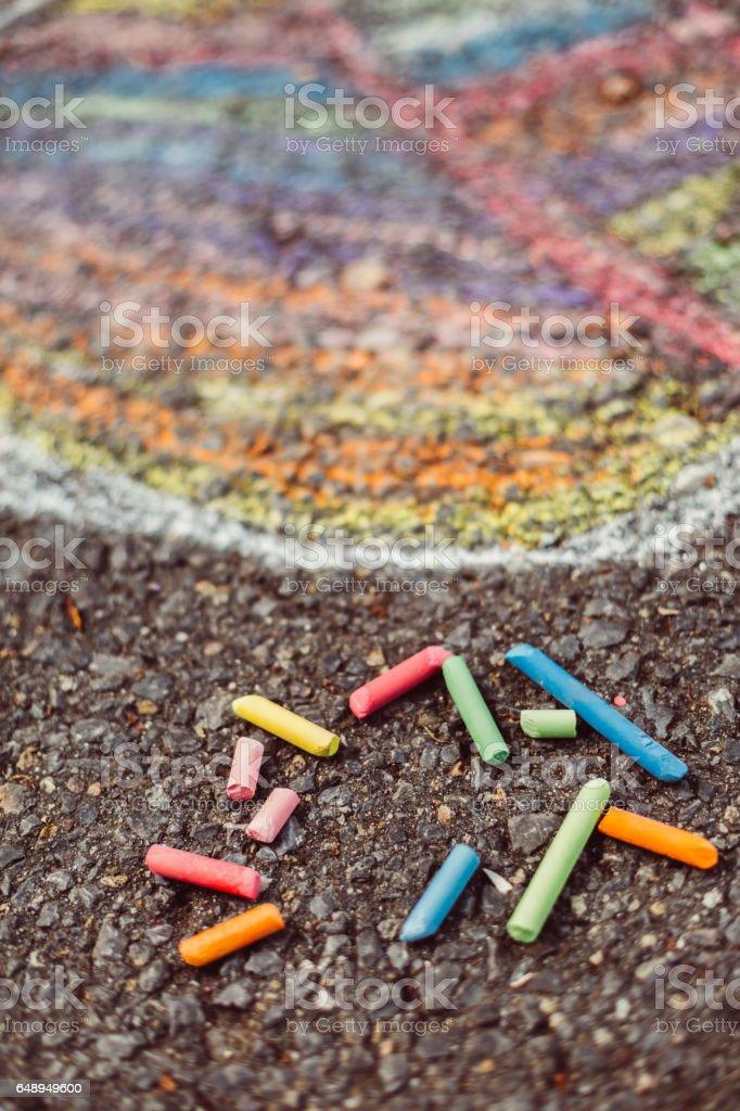 Chalk drawing stock photo