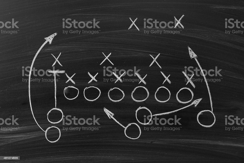 Chalk Football Play stock photo