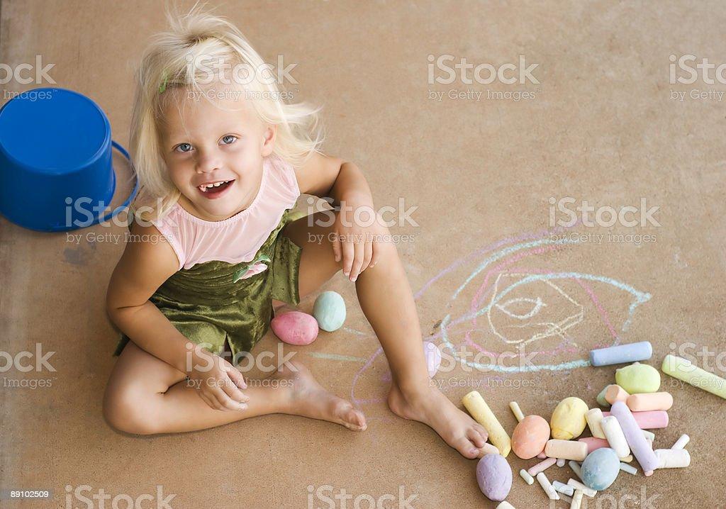 Kreide Mädchen#4 Lizenzfreies stock-foto
