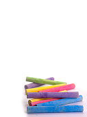 chalk in a variety of colors