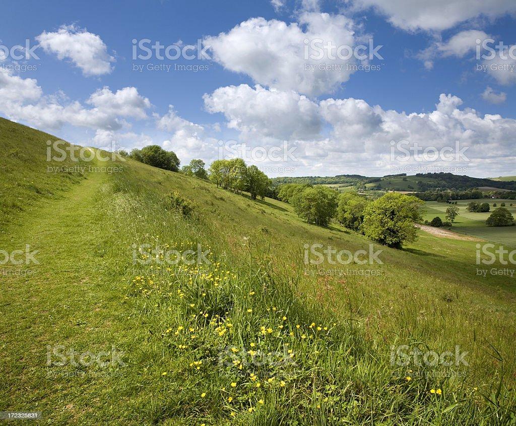 Chalk Landscape royalty-free stock photo