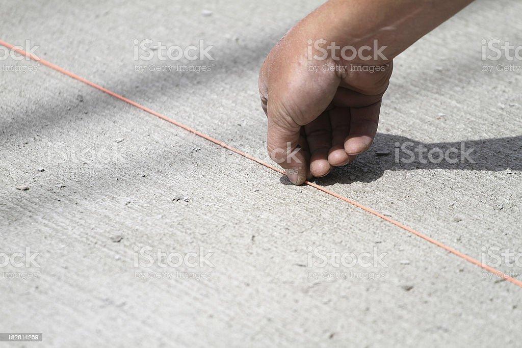 Chalk Line stock photo