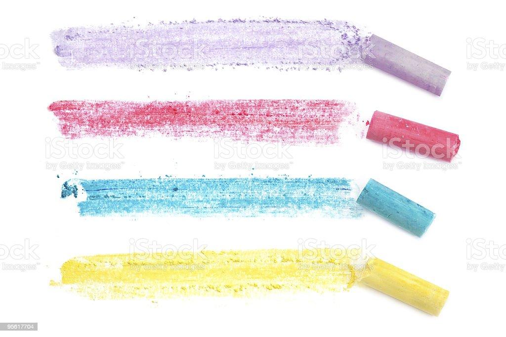 Chalk Lines stock photo