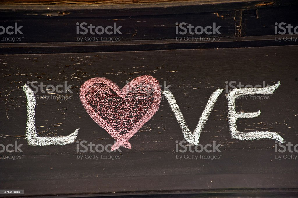 Chalk love stock photo