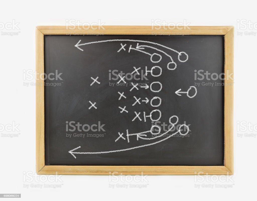 chalk on blackboard stock photo