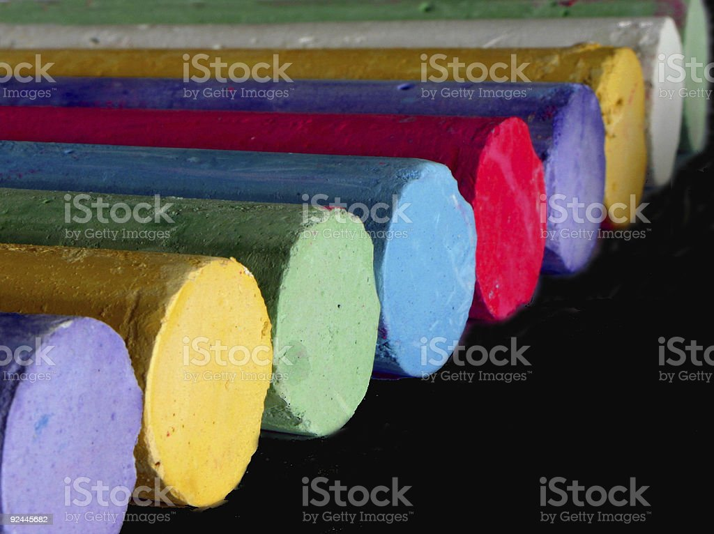 Chalk on Blackboard royalty-free stock photo