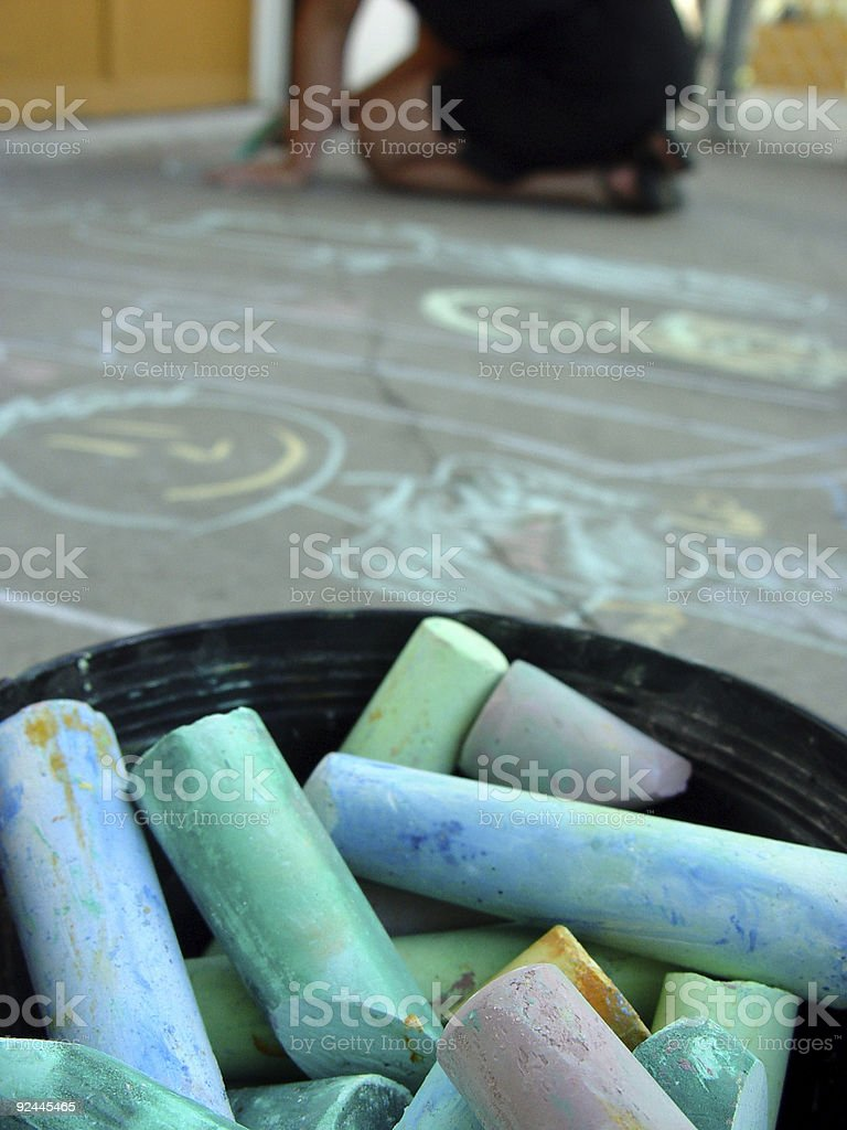 Chalk one up stock photo