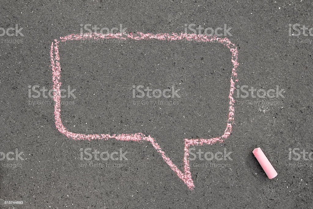 chalk speech bubble stock photo