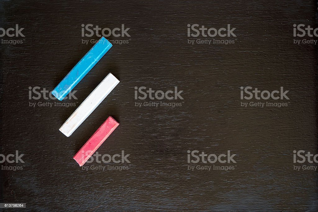 Chalk sticks stock photo
