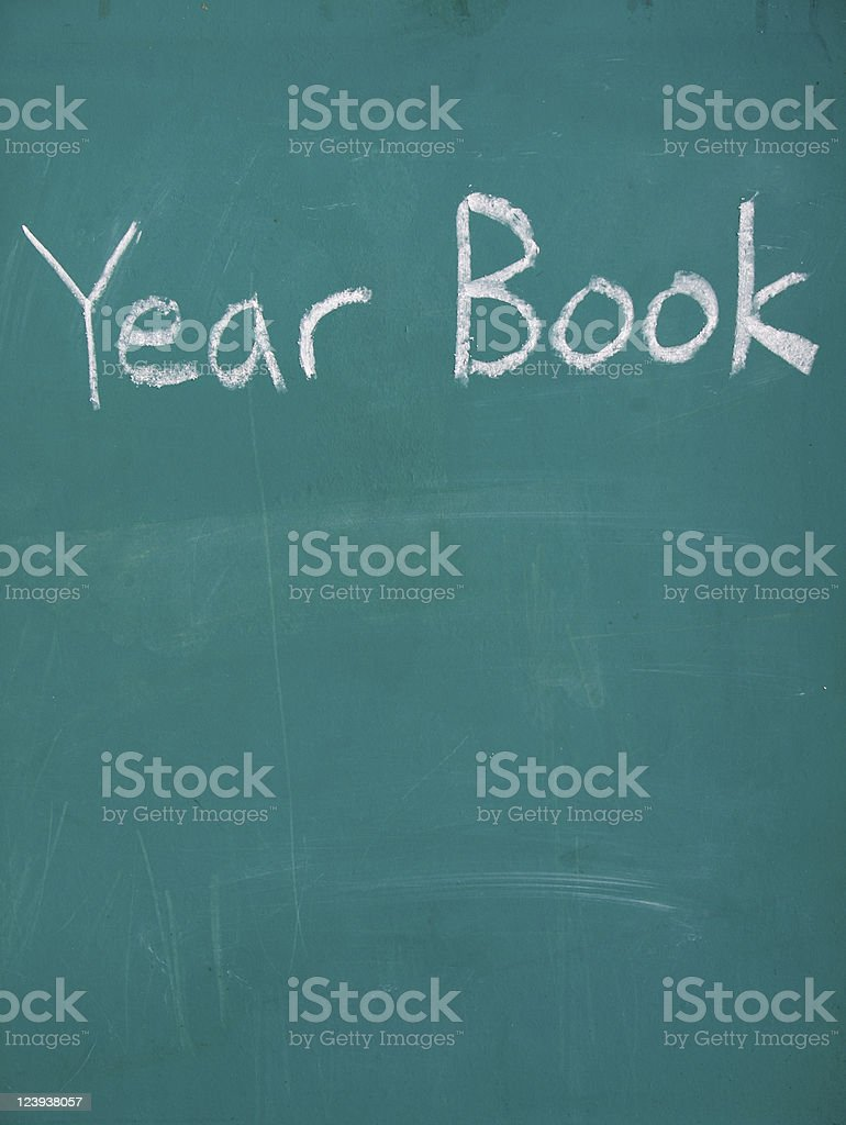 Chalk Year Book royalty-free stock photo