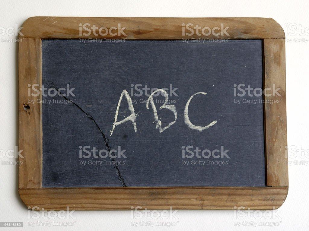 chalkboard ABC stock photo