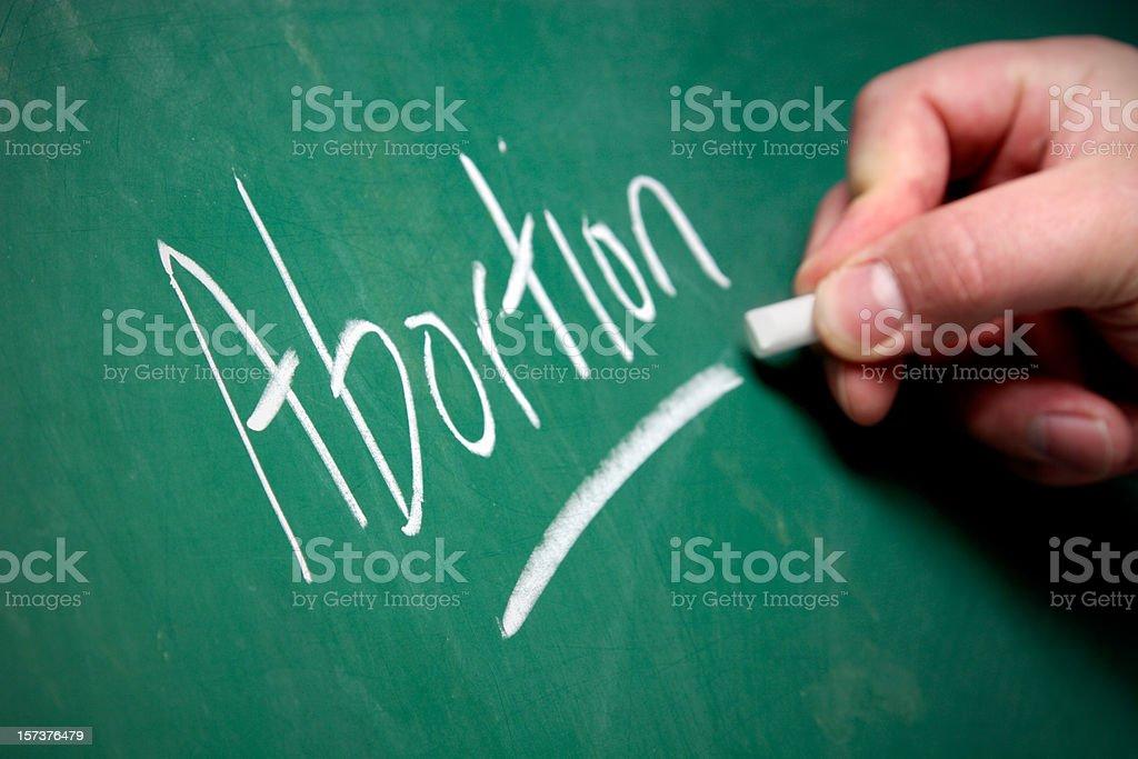Chalkboard - Abortion stock photo
