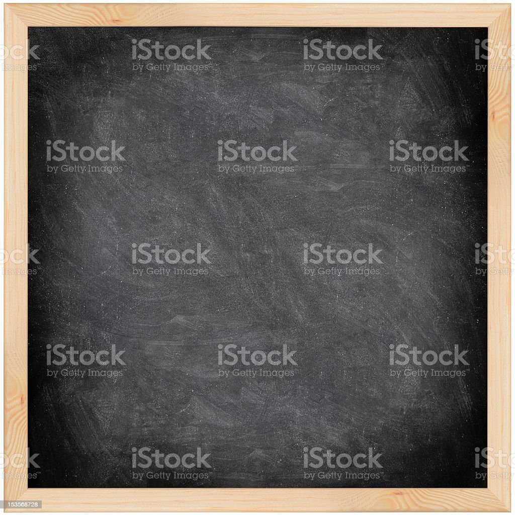 Chalkboard blackboard - black and square royalty-free stock photo