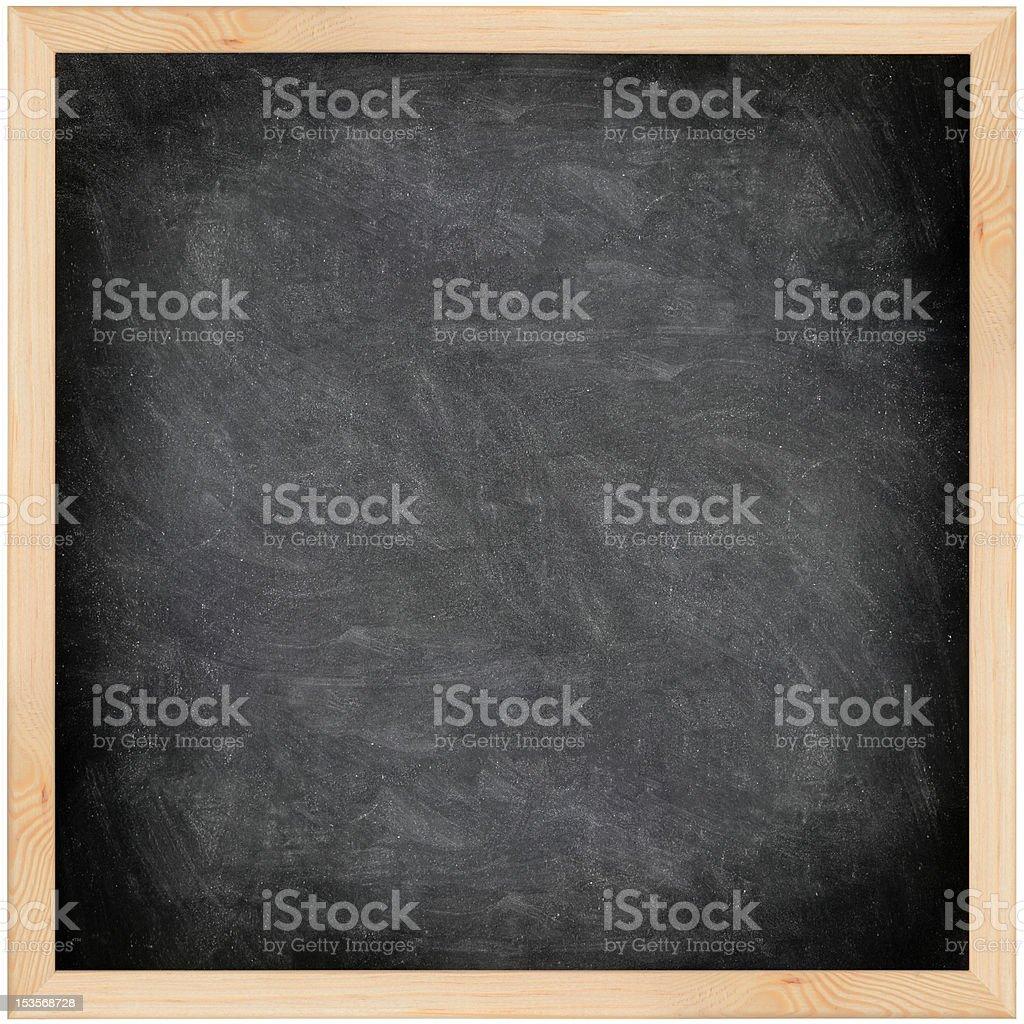 Chalkboard blackboard - black and square stock photo