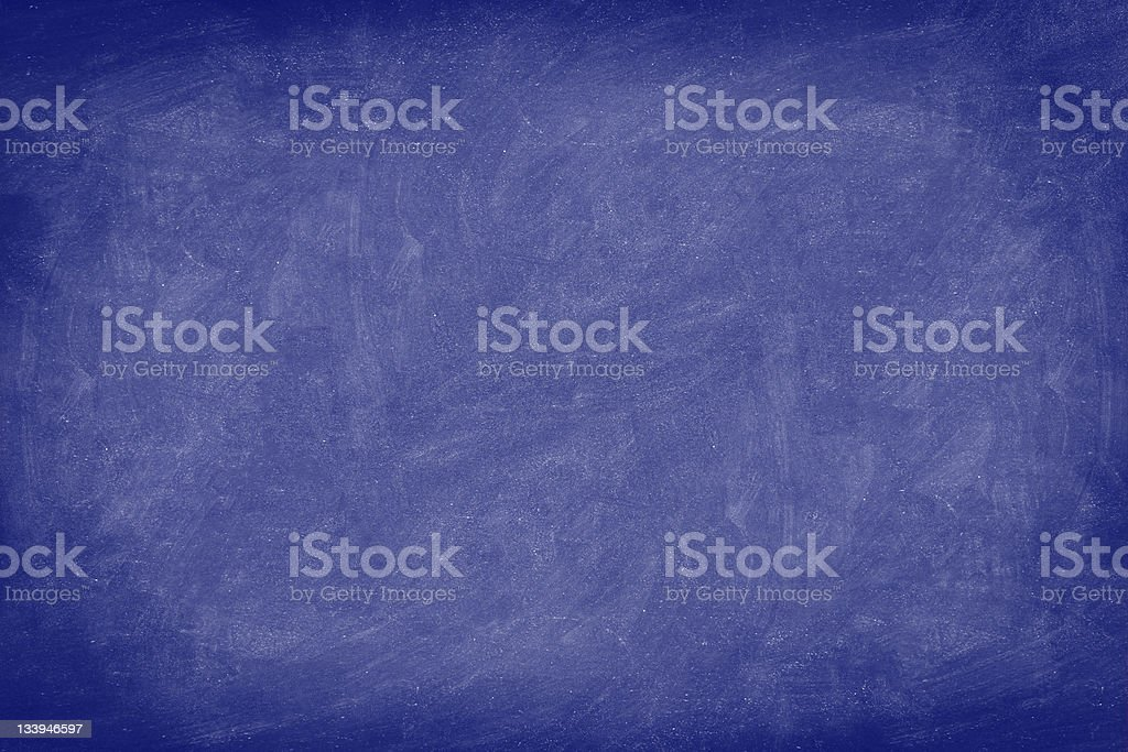 Chalkboard / dark blue blackboard texture background royalty-free stock photo
