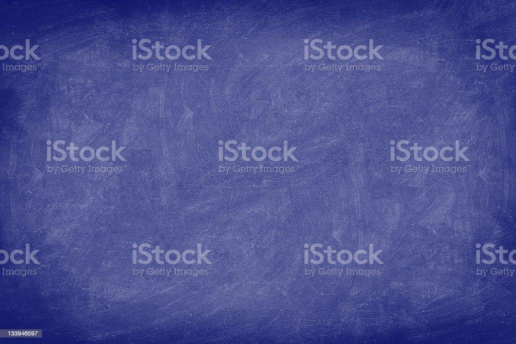 Chalkboard / dark blue blackboard texture background stock photo