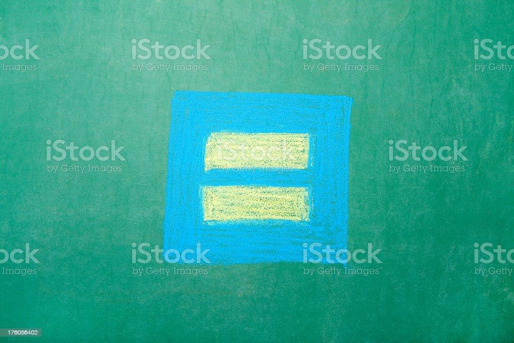 Chalkboard Equality Symbol royalty-free stock photo