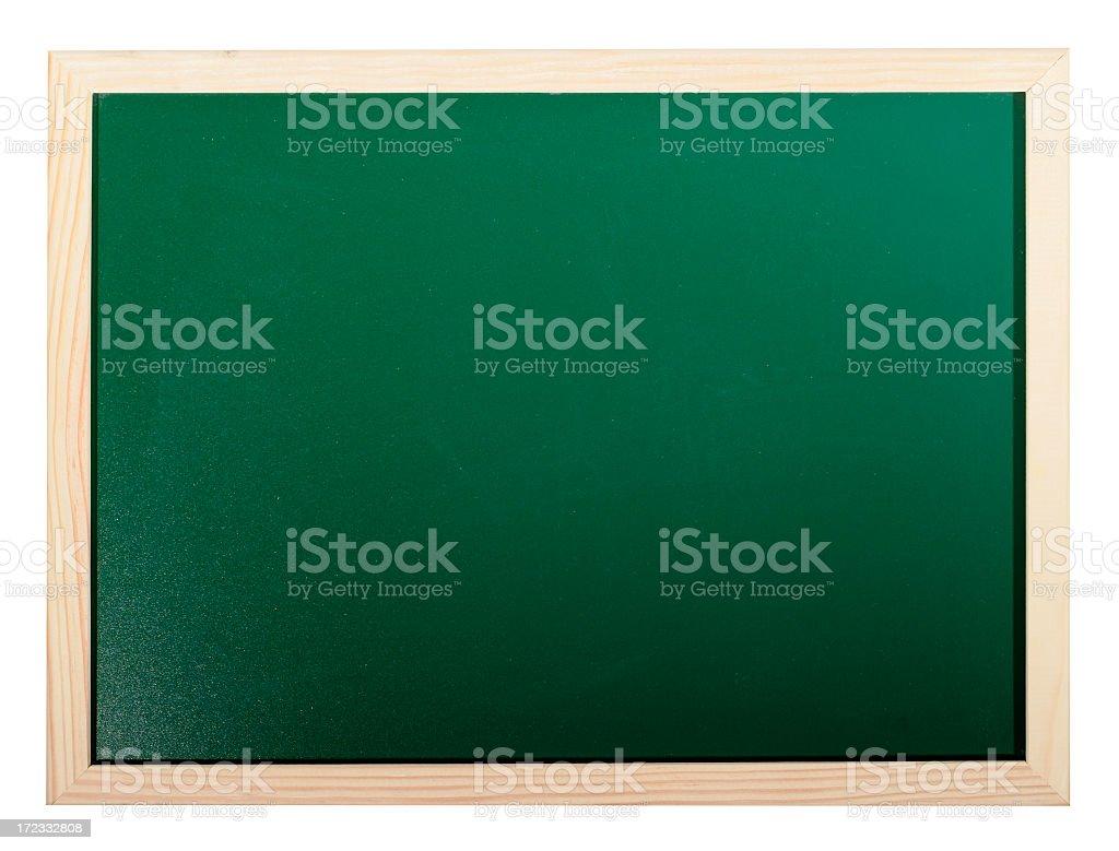 Chalkboard isolated on white royalty-free stock photo