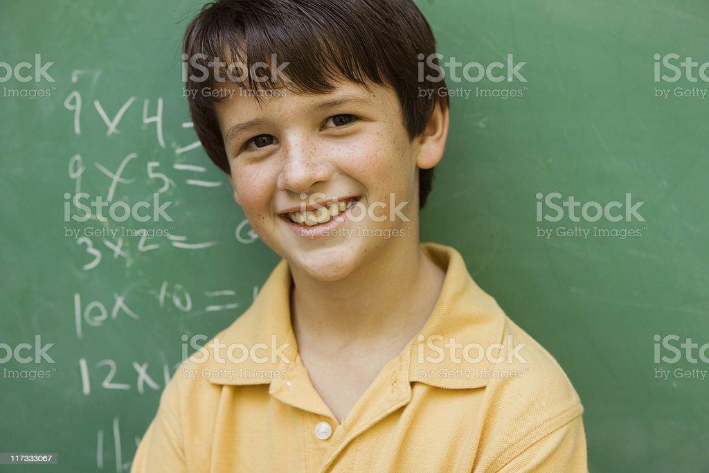 Chalkboard Kid royalty-free stock photo