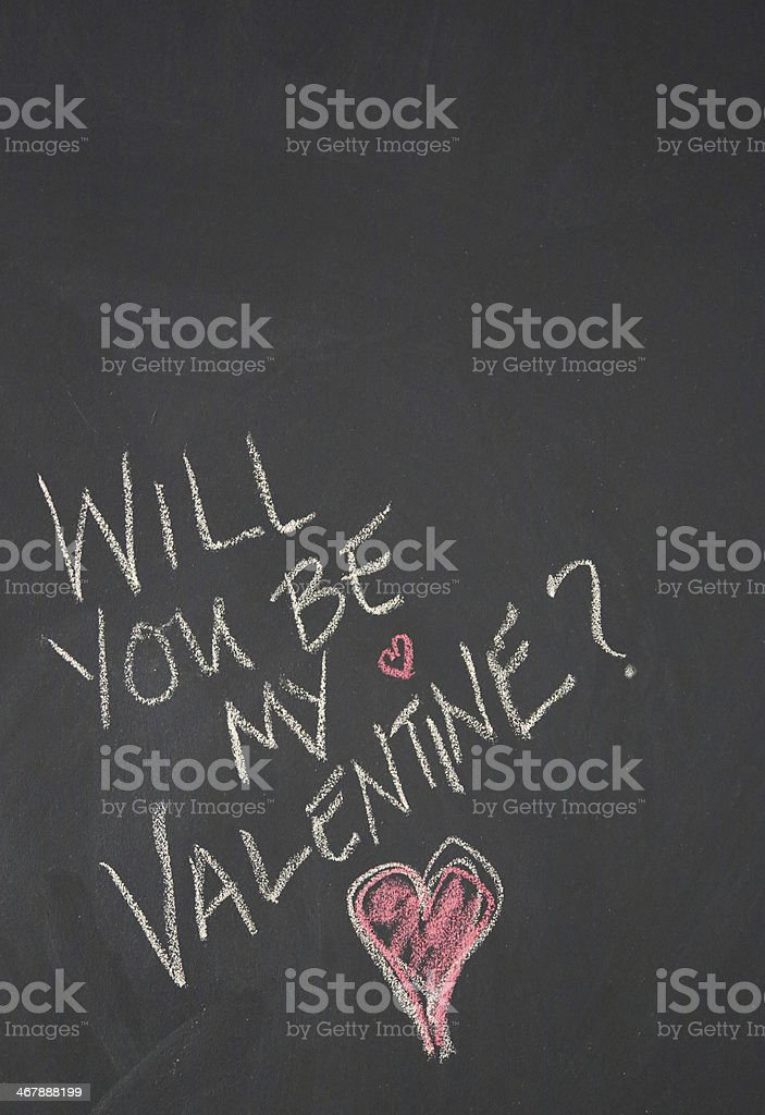 Chalkboard message for Valentine's Day royalty-free stock photo