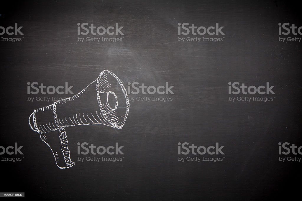 Chalkboard Messages stock photo