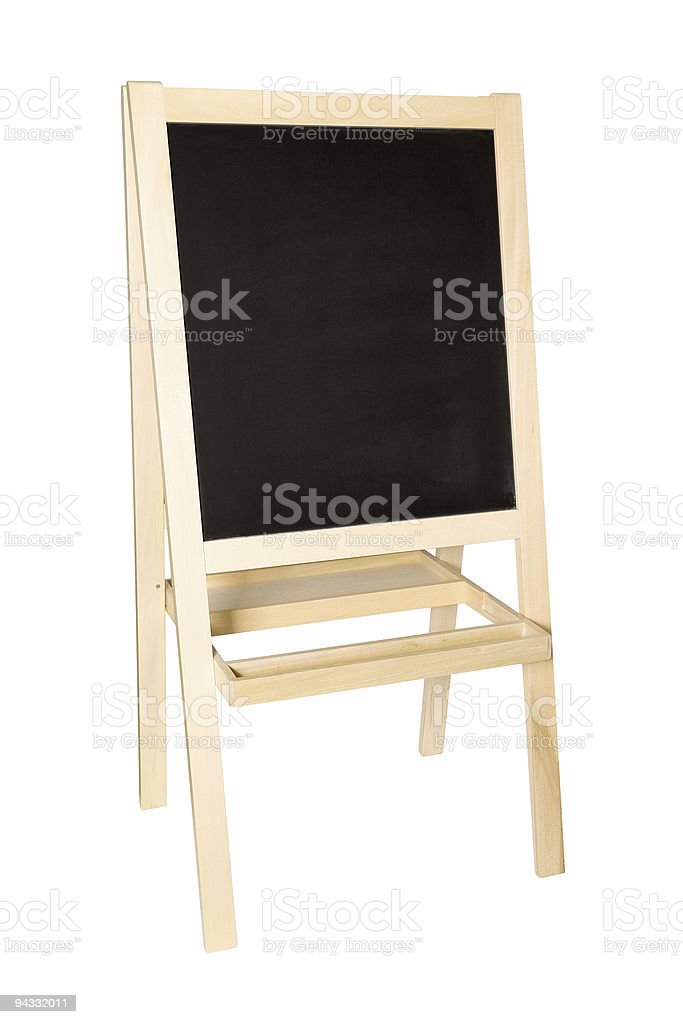 Chalkboard (clipping path) royalty-free stock photo